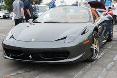 Ferrari på utställning på en Supercar söndag Ferrari för årlig händelse Arkivbilder