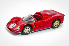 Ferrari 330 P4 1967 scale model. One of the most revered Ferraris is the 330 P4. It immediately draws attention with curvaceously low lines and a sleek, yet royalty free stock photo