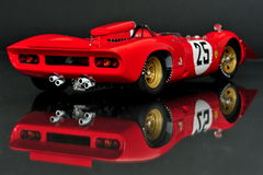 Ferrari 312P Spyder racing car - back view Royalty Free Stock Photos