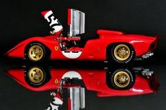Ferrari 312P Spyder racing car - open doors Royalty Free Stock Photos