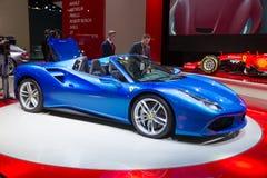 2016 Ferrari 488 pająk Obraz Stock