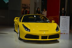 Ferrari 488 pająka sportów odwracalny samochód Zdjęcia Royalty Free
