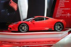 Ferrari an Paris-Autoausstellung 2014 Lizenzfreie Stockfotos