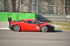 Ferrari 458 Pellin för tävlings- lag utmaning Evo 2016 Royaltyfri Bild