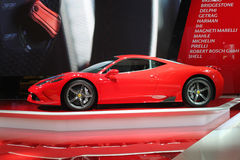 Ferrari przy Paryskim Motorowym przedstawieniem 2014 Zdjęcia Royalty Free