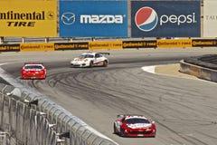 Ferrari que conduz em raças grandes do AM Rolex Fotografia de Stock Royalty Free