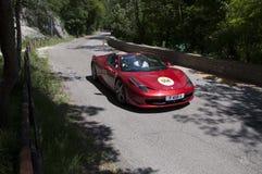 FERRARI 458 röda Italia Fotografering för Bildbyråer