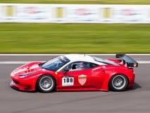 Ferrari 458 racerbil Fotografering för Bildbyråer