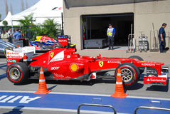 Ferrari Racing Car in 2012 F1 Canadian Grand Prix Stock Photo
