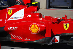 Ferrari Racing Car in 2012 F1 Canadian Grand Prix Stock Photos
