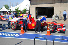 Ferrari Racing Car in 2012 F1 Canadian Grand Prix Royalty Free Stock Photos
