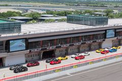 Ferrari racing day stock photography