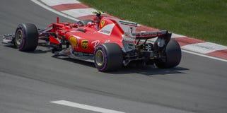 Kimi Raikkonen in Montreal 2017. Ferrari Racing Team and Kimi Raikkonen at the 2017 Canadian Gran Prix Royalty Free Stock Image