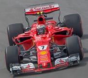 Kimi Raikkonen and the Ferarri racing team at the 2017 Canadian Gran Prix royalty free stock photos