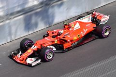 FERRARI-RAIKKONEN-GP F1 MONACO 2017 Photos stock