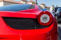 Ferrari Rear Lights Stock Image