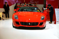 Ferrari red sports car Stock Photography