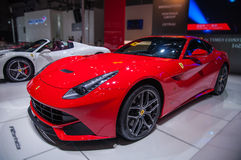 Ferrari Roadsters. Take on the 16th Chongqing International Motor Show, June 6th-12th, 2014. There are many international famous brand companies and corporations Stock Image