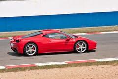 Ferrari rojo Imágenes de archivo libres de regalías