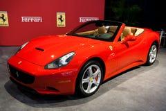 Ferrari rosso California all'esposizione automatica di Toronto Fotografie Stock Libere da Diritti