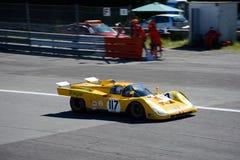 Ferrari 1970 512 S i handling Arkivbild