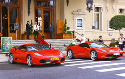 Ferrari s outside casino Royalty Free Stock Photos