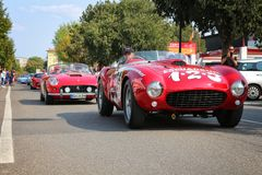 MARANELLO, MODENA, ITALY, September 2017 - Ferrari`s seventh anniversary, sports car show Stock Photo