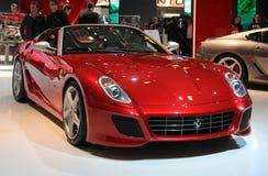 Ferrari SA APERTA At Paris Motor Show Royalty Free Stock Photos