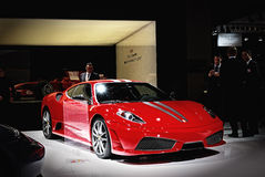 Ferrari at salon auto Royalty Free Stock Photos