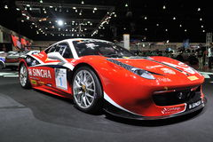 Ferrari samochód przy 3rd Bangkok międzynarodowym autosalon 2015 na Czerwu 27, 2015 w Bangkok, Tajlandia Fotografia Stock