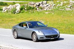 Ferrari 612 Scaglietti Fotografering för Bildbyråer