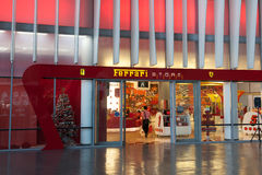 Ferrari Shop at the Ferrari World in Abu Dhabi Stock Photography
