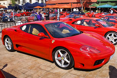 Ferrari Show Day - 360 Modena - RHD. Montecasino and SEFAC (Southern Equatorial Ferrari Automobili Club) 3rd annual Show Day Royalty Free Stock Photo