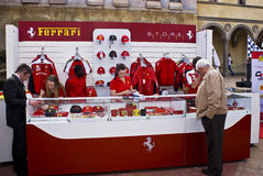 Ferrari Show Day - Merchandising Counter Stock Image