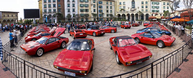 Ferrari Show Day - Super Wide Angle 02. Montecasino and SEFAC (Southern Equatorial Ferrari Automobili Club) 3rd annual Show Day Royalty Free Stock Image