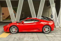 Ferrari in Singapore van de binnenstad royalty-vrije stock foto