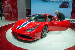 Ferrari 458 Speciale - världspremiär Arkivfoton