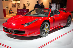 Ferrari 458 Spider Stock Photos