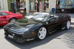 Ferrari 348 Spider car on display Stock Image