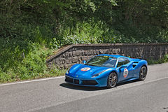 Ferrari 488 Spider in Mille Miglia 2016 Royalty Free Stock Images