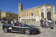 Ferrari spider 430 silver on the road Stock Image