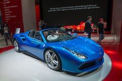 Ferrari 488 Spider - world premiere. Stock Photo