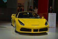 Ferrari 488 Spin convertibele sportwagen Royalty-vrije Stock Foto's