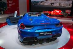 Ferrari 488 Spin - wereldpremière Stock Afbeeldingen