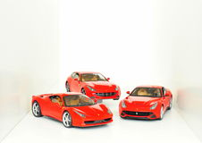 Ferrari sport cars: FF, F12 Berlinetta and 458 Italia Stock Photography