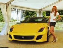 Ferrari sportbilar Arkivbild