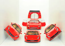 Ferrari sportbilar: F40, FF, F12 Berlinetta och 458 Italia Royaltyfri Bild