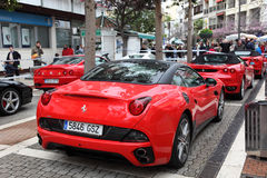 Ferrari sports cars Royalty Free Stock Photos
