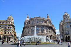 Ferrari Square. Genoa, Italy royalty free stock image