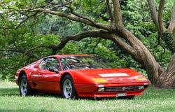 Ferrari stellte am Schloss Loucen aus Tschechische Republik am 7. Juli 2012 Stockbilder
